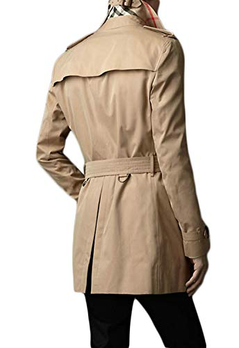 Loose Section Men's Long Khaki and Coat Coat Medium DAFREW Autumn Double Jacket Fashion Breasted Spring and Casual Trench zFxRqZn1