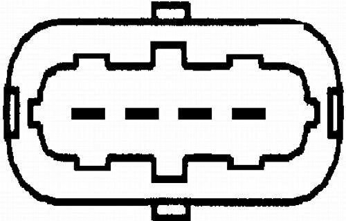 Anschlussanzahl 5 Montageart Rohrstutzen HELLA 8ET 009 142-731 Luftmassenmesser