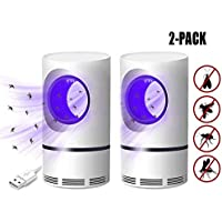 2pack Fotokatalytisch Mosquito Killer, USB Powered Fly Mosquito Trap Lamp UV LED Effectieve Indoor Trap for Kids Baby (Color : White)