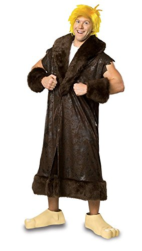 [The Flintstone, Barney Rubble Costume With Wig And Shoe Covers, Black, Plus] (Barney Costume For Baby)