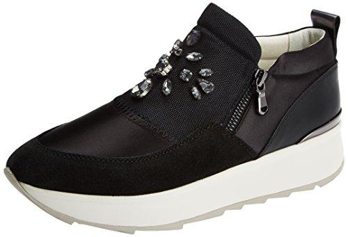 Geox Damen D Gendry A Sneaker Schwarz (nero)
