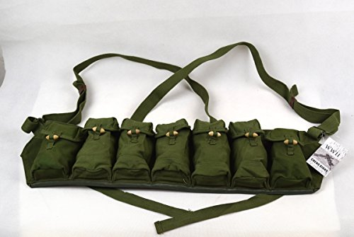 Surplus Chinese Military 7.62mm Type 63(68) Rifle Chest Rig Bandolier Ammo Pouch