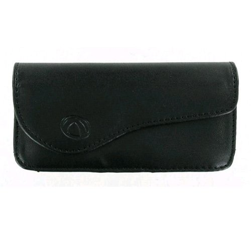 (Technocel - Universal Medium Horizontal Leather Pouch with Magnetic Closure - Bl)