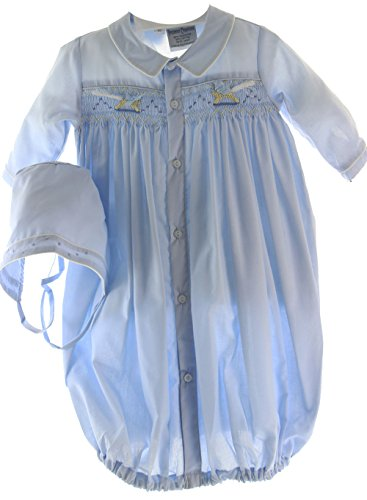 onnet Set Smocked Rocking Horses | Blue Layette Sets (Newborn Rocking Horse)