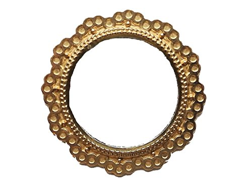 Melody Jane Dolls Houses House Miniature Accessory Round Mirror in Gold Frame 1:12 Scale ()