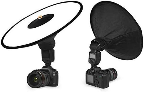 MDFGHJD Portable Round Softbox Universal Photography Studio Flash Diffuser Soft Box Strap Oxford Cloth for Camera Flash