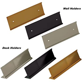 Amazon Com 2x8 Wall Name Plate Holder With Clear Plastic