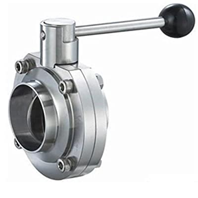 """Steel and Obrien BFVPW-4-304 Stainless Steel Weld Butterfly Valve, Pull Handle, 4"""" from Steel and Obrien"""