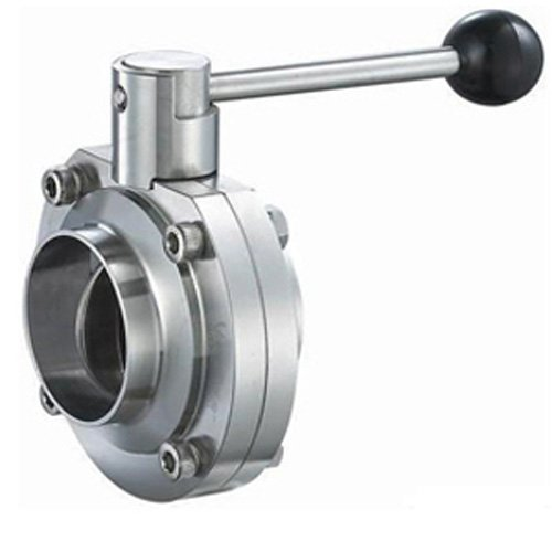 Pull Handle 1-1//2 1-1//2 Steel and Obrien BFVPW-15-304 Stainless Steel Weld Butterfly Valve