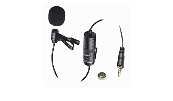 Transducer type Panasonic NV-DA1B Camcorder External Microphone Vidpro XM-L Wired Lavalier microphone Electret Condenser 20 Audio Cable