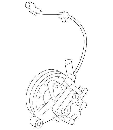 Amazon Com Kia 57100 2p350 Power Steering Pump Automotive