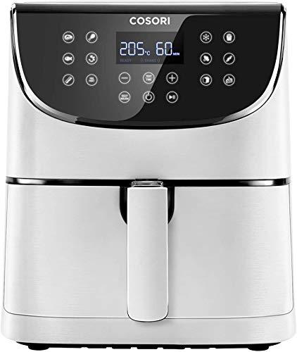 COSORI-Freidora-sin-Aceite-55L-Freidora-Aire-Caliente-con-11-Programas-Air-Fryer-con-Funcion-Mantener-Caliente-Pantalla-LED-Tactil-Temporizador-Sin-BPA-ni-PFOA-100-Recetas-1700W-Blanco