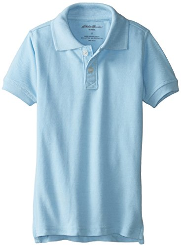 Eddie Bauer Toddler Boys' Polo Shirt (More Styles Available), Pique Light Blue-IHICGE, (Light Blue Toddler Shirts)