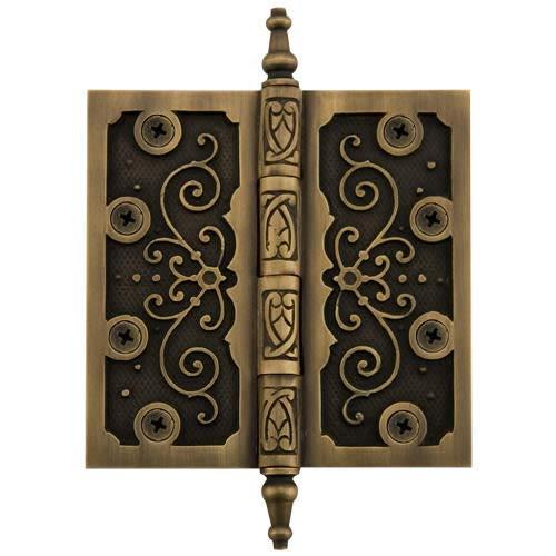 Antique Brass Ornate Hinges - Signature Hardware 282296 Ornate 4