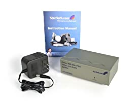StarTech.com ST122PROA 2 Port High Resolution VGA Video Splitter with Audio - 400 MHz
