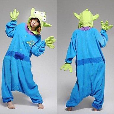 Unisex Adult Onesies Anime Cosplay Costume with Hoodie Toy Story Aliens Polar Fleece Kigurumi Pajamas , (Toy Story Pajama Adult)