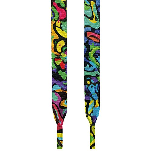 HoopSwagg High Quality Print Shoelace Graffiti 54 Inches (Lebron Shoe Laces compare prices)