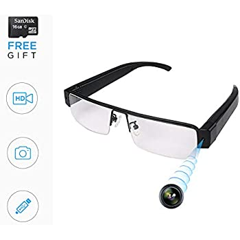 1d1113315cfa9 Amazon.com   Spy Camera Glasses 1080p Support Up to 32GB TF Card ...