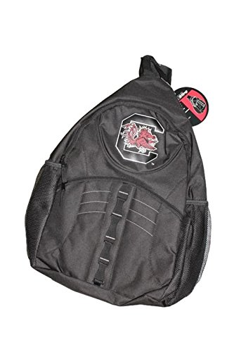 Sport Team Products South Carolina - Gamecocks Logo on Black Sling Backpack - Logo Sling Backpack