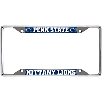 FANMATS NCAA Penn State Nittany Lions Chrome License Plate Frame