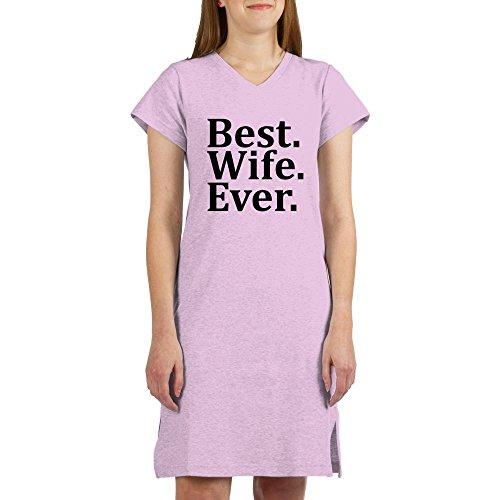 CafePress Best Wife Ever Women's Nightshirt, Soft Long Pajama Shirt, Cotton PJs/Pyjamas Pink