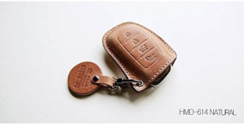 AEGIS Smart Key Holder Case Cover Cowhide Leather 1-pc For 12 13 14 i40 : i40cw (Natural)