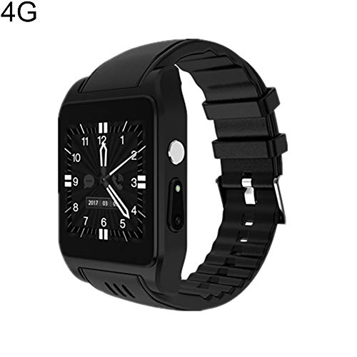 haixclvyE X86 2G/3G Smart Watch Phone,Waterproof Bluetooth Pedometer WiFi 2.0MP Camera SmartWatch for Women Men Gift Black 4G 4G ()