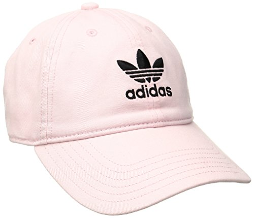 (adidas Women's Originals Relaxed Adjustable Strapback Cap, Clear Pink/Black, One)