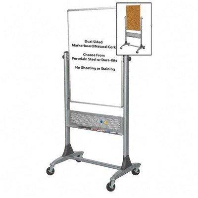 (Balt Porcelain Mobile Reversible Board, 30 by 40-Inch, Platinum)