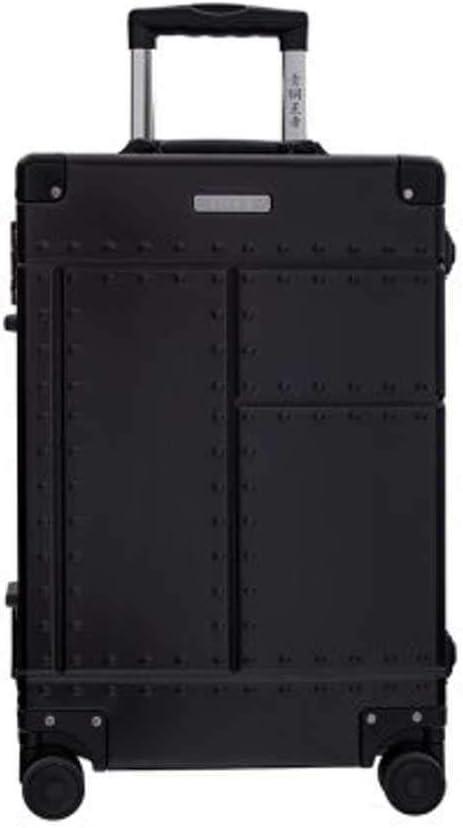 Maleta de Viaje 100% de aleación de Aluminio de 50,8 cm y 66 cm, Negro (Negro) - 6947125410809