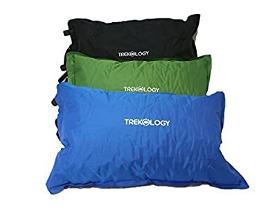 Trekology Self Inflating Camping Pillows - Compressible, Lightweight, Inflatable, Comfortable Air Travel Pillow for Lumber Support and a Good Night Sleep, Great for Hiker, Backpacking, Camp, Outdoor