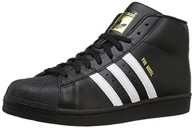 adidas Originals Mens Pro Model Sneaker Black/White/Metallic/Gold 8.5 M US