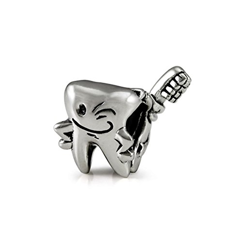 Ohm Beads Sterling Silver Happy Tooth Bead Charm