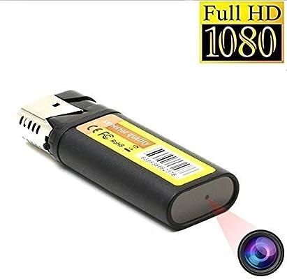 TenSky 1080P HD Mini Cámara Espía Encendedor Videocámara DV Soporta Grabación Cíclica Unidad Flash USB