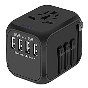 Upgraded Universal Travel Adapter, Castries All-in-one Worldwide Travel Charger Travel Socket, International Power…