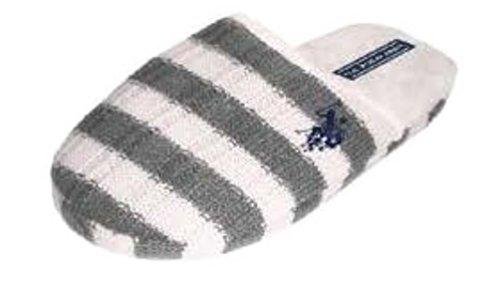 Ons Polo Assn. Damesslippers Voor Dames, Voor Binnen En Buiten, Grijs / Wit