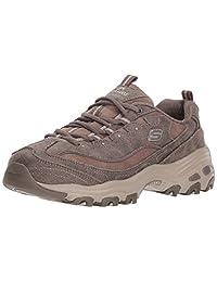 Skechers Women's D'Lites School Shoe, Dark Taupe, 6.5 M US