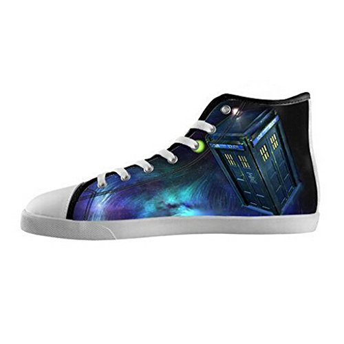 Dude Custom Galaxy doctor who Women's High top Canvas Shoes for fans US9