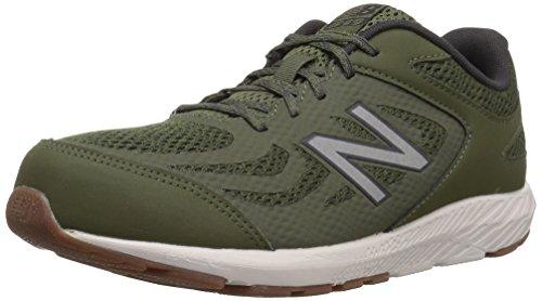 Gym Shoes Boys (New Balance Boys' 519v1 Running Shoe, Dark Covert Green/Phantom, 4 M US Big Kid)
