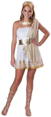 InCharacter Costumes Teen Glitzy Goddess Costume, White/Gold, (Sexy Costumes For Teenagers)