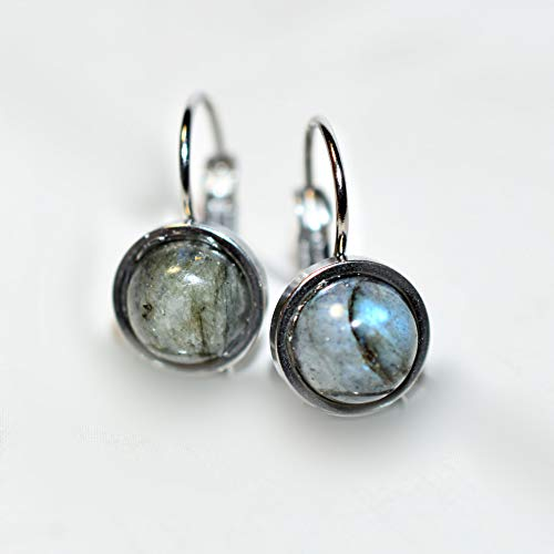- Northern Lights - Natural Labradorite Stone Drop Earrings by Amaranth & Rue