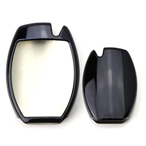 iJDMTOY Chrome Finish Black TPU Key Fob Protective Cover Case For Mercedes Benz C E S M CLA CLS CLK GLK GLA GLC GLE GL SL Class, etc Remote Key