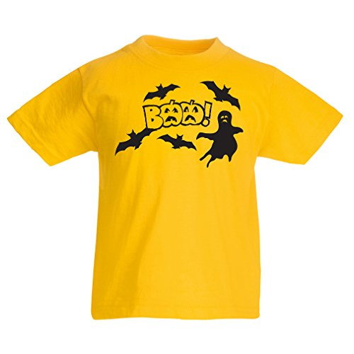 T shirts for kids BAAA! - Funny Halloween Costume ideas, cool party outfits (7-8 years Yellow Multi Color)