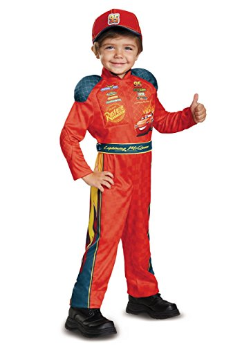 Cars 3 Lightning Mcqueen Classic Toddler Costume, Red, Large (4-6) -