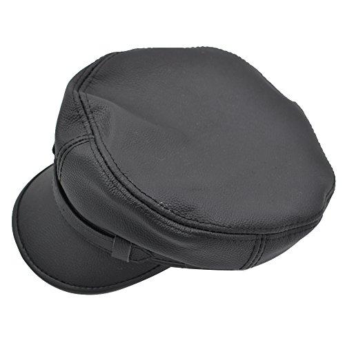 e241bd023c5 Jual IFSUN Men s Leather Greek Fisherman Sailor Fiddler Driver Hat ...