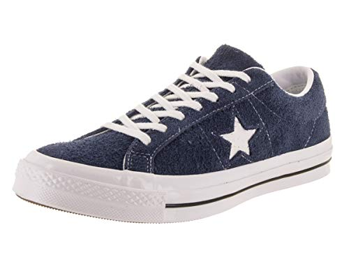 Converse Men's One Star Suede Low Top Sneakers, Navy, Blue, 8.5 M US