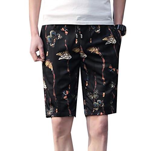 Pandapang Womens Casual High Rise Linen Straight Bermuda Wide Leg Shorts