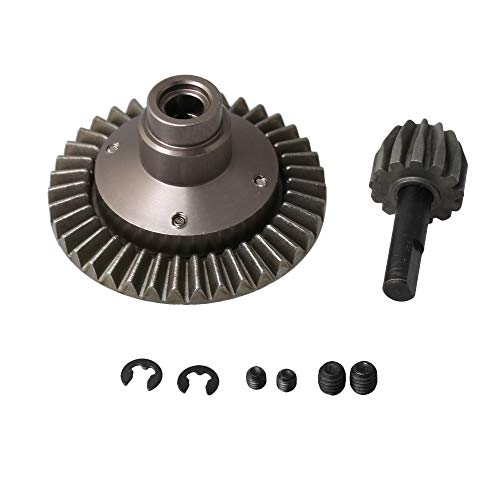 BQLZR Titanium Color Aluminum Alloy Metal Differential Heavy Duty Bevel Gear Set 38T 13T for AXIAL Wrangler Wraith AX90056 RC1:10 Car Spare Parts Pack of -