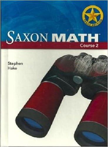 Saxon math course 2 teachers manual volumes 1 and 2 texas edition.