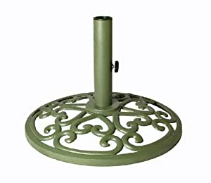 Madhu's COLLECTION - MG Décor Carved Base Garden Umbrella Stand, 18 by 18 by 13-Inch
